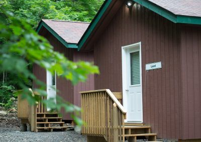 An image of Wenonah Outdoor Education Centre cabins.