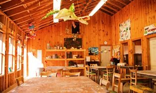 An image of the interior of the Driftwood Creative Centre.
