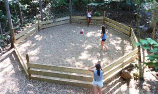 An image of the Gaga Ball Court at the Wenonah Outdoor Education Centre.