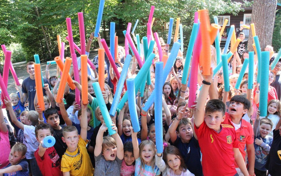 An image of Camp Wenonah campers playing